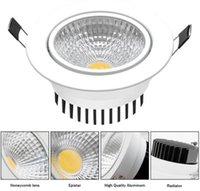 10 STÜCKE LED-Deckenleuchte Dimmable COB-LED-Downlight 6W 9W 12W 15W LED-Spot-Licht kaltweiß / natürlich weiß / warmweiß AC / dc 12V