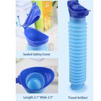 Mini Folding Urinal Tool Portable Toalett Män och Kvinnor Utomhus Travel Tool Camp Vandring Potty Barnträning Fällbara Pee Tools