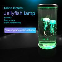 Lámpara de torre LED Lámpara de noche Cambiar luz de noche Lámpara de noche USB Super Power Ahorro Aquarium Decoración de la casa Lámpara