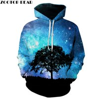 Galaxy Tree 3D Printed Hoodies Unisex Plus Size Sweatshirts ...
