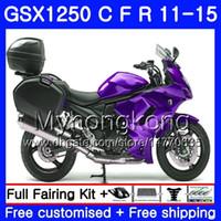 Body For SUZUKI Bandit GSX1250F GSX1250FA GSX1250 C 11 12 13 14 15 310HM.19 GSXF1250 New purple GSX1250C 2011 2012 2013 2014 2015 Fairing