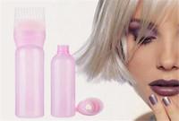 Bouteille De Teinture Pour Les Cheveux Vide Avec Applicateur Brosse Dispense Salon De Coloration Des Cheveux Teinture Des Bouteilles De Coiffure Styling Outil 120ML
