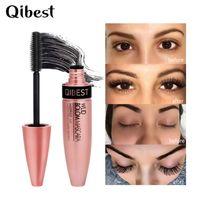 Nuovo QIBEST 4D Mascara Lash Mascara Mascara Impermeabile Rimel 3d Mascara Per Estensione Ciglia Nero Spesso Allungamento Ciglia Cosmetici