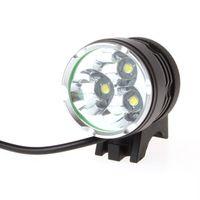 4000 Lumen 3x XM-L T6 LED-Scheinwerfer 3T6-Scheinwerfer-Fahrrad-Licht-wasserdichte Taschenlampe + 6400mAh Batterie-Satz-freies Verschiffen