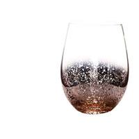20 onças sem chumbo Cristal Egg vinho copo de vidro Tumbler Modern Grande Capacidade Ion banhado Arco-íris transparente Household Sala Craft EEA1290-5