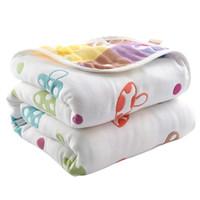 90 * 100 cm de algodão puro cobertor de bebê verão criança quilt 6 camada muslin swaddle para newbons gaze banho toalha bebê deken