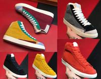 Blazers Mid 77 Vintage Suisse Suisse Chaussures Surede Fashion Sports Chaussures Gris Jaune 77 Zapatos Chaussures Homme Womans Vintage Skate Sneaker