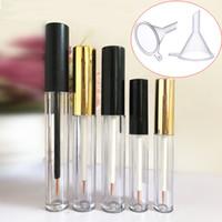1 ml 3 ml 5 ml lege plastic duidelijke eyeliner verpakking flacon fles wimper verlenging vloeibare opslag houder container wimpers buis met zwarte dop