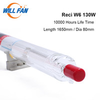 Fanfer récidivé W6 130W CO2 Laure Laure 1650mm diamètre 80mm pour la gravure au laser Machine de coupe 10000 heures Tuyau de verre