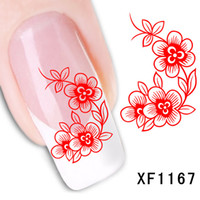 waterproof Water Transfer Nails Art Sticker Beautiful flower...