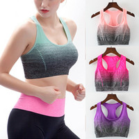 2019 Womens Ladies Acolchoado Sports Bra Cross Back Seamless Yoga Gym Fitness Vest Top