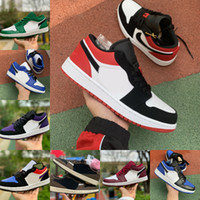2020 Nike Air Jordan 1 retro jordans Low Low Tropical Licht Travis UNC Obsidian Ember Leuchtend Schwarz Bred Toe Retroes 1s Frauen-Skateboard-Schuhe