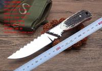 venta caliente HARNDS supervivencia que acampa del cuchillo de caza Ultrasport knifesteel + astas manejan 9CR18Mov OEM de precios al por mayor de la calidad de las herramientas al aire libre de la EDC