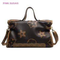 الوردي sugao مصمم حمل حقيبة المرأة حقيبة 2020 جديد أزياء الكتف حقيبة يد كبيرة محفظة سيدة حقيبة تسوق كبير زهرة مطبوعة حقيبة يد bhp