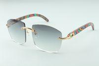 Hot novos templos de madeira óculos pavão A4189706-4, Fábrica de qualidade superior direto óculos de moda unissex