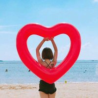 Inflatable Sweet Heart Swimming Rings laps Giant Pool party ...