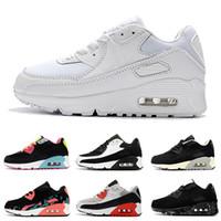 Nike air max 90 Çocuk Atletik Ayakkabı Presto 90 II Çocuklar Koşu ayakkabıları Siyah beyaz Bebek Bebek Sneaker Çocuk spor ayakkabı kız erkek Gençlik Eğitmen
