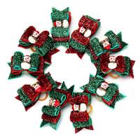 Weihnachten Haustier-Haar-Bogen-Schneemann Bowknot Katzen Hundekopfschmuck Blume mit Haar-Band Haustier Haarschmuck OOA7448-7