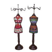 Высокое качество 40 * 12.5 см модель из цельного дерева ожерелье стойку женский манекен серьги дисплей стойки ювелирных изделий стойки, магазин украшения рабочего стола 1 шт. C616