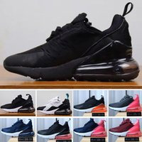 Nike air max 270 27c 2019 El más nuevo 27s air Cushion Knit Breathable Children Running shoes boy girl young kid sport Sneaker size 28-35