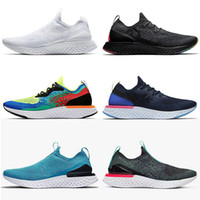Atacado New épico Reagir Mens Womens FK v1 v2 Knit Running Shoes preto branco Plum poeira Bélgica Royal Green Olive estanho preto Trainers Grey