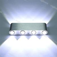 Lampes murales aluminium LED vers le bas 8W AC85-265V lampe de cuboïde moderne décoration intérieure de la maison éclairage DHL