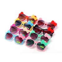 Kids Girl Sunglasses Bow Cat Kid Sun Glasses UV Protection G...