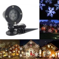2018 12 patrones Mini navidad láser muñeco de nieve proyector exterior LED móvil paisaje lámpara impermeable luces de discoteca decoración