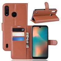 Funda de cuero Litchi Wallet para MOTO P40 PLAY Power OPPO F11 Pro Google Pixel 3A XL LG Stylo 5 ONE PLUS 7 PRO Soporte Leechee Money Skin Cover