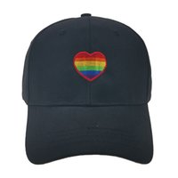 Unisex Hip- hop Hat Rainbow Heart Baseball Cap New Men Women ...
