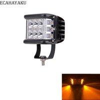 1Pcs Dually 4Inch 60W Led Cubes Amber Dually Side Shooter Wa...