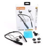 جديد SY- الموجة BCNX001 سماعات بلوتوث إلغاء الضوضاء سماعات لاسلكية الرياضة سماعات مع ميكروفون التحكم في مستوى الصوت نوعية جيدة