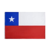 Freies Verschiffen auf Lager 3x5ft 90x150cm Hängen Nationale chl cl chile Land chilenische Flagge für Feier-Dekoration