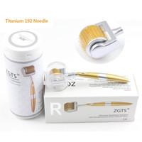 المهنية التيتانيوم ZGTS ديرما الرول 0.2 / 0.25 / 0.3MM إبرة للعناية بالوجه وفقدان الشعر شهادة CE ثبت