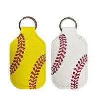El Temizleyici Şişe Jel Tutucu Kol Anahtarlık Halka pendent için Neopren Kapak Beyzbol Softbol Anahtarlık Chapstick Tutucu RTS
