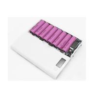 100pcs 다색 8*18650 리튬 이온 건전지 상자 힘 은행 포탄 건전지 없는 휴대용 LCD 디스플레이 외부 상자