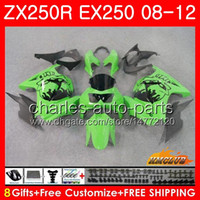 Body For KAWASAKI NINJA ZX- 250R EX- 250 ZX250R 08 09 10 11 12...