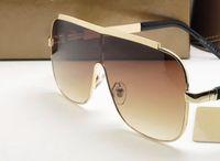 2019 fashion Luxury Aviator- Style Brown Sunglasses Men Eyegl...