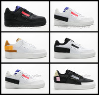 2019 Forces New 1 Type N.354 Utility 1s Classic White Men Women Zapatillas de skate Deportes Skateboard Low Cut One Zapatillas de deporte para hombre Zapatillas de deporte