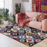 Современная Богема дизайн Красочные геометрические ковров и ковры для Главных Гостиной Спальни Диван Таблица Марокко Non-Slip коврика