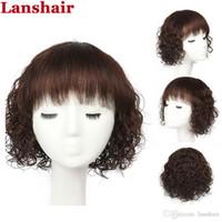 Court Style None Dentelle Front Human Cheveux Perruques Chine Best Bref Brésilien Bassique Cheap Cheveux Perruques avec Cheveux Bébé Bangs sans gluë pour les femmes noires