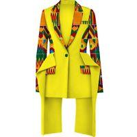 Mode Afrikanische Druck Top Jacke für Frauen Bazin Riche Top Jacke 100% Baumwolle Dashiki Frauen Afrikanische Kleidung WY3935