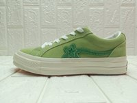 (2 Lacci + Sacchetto di polvere) Uomini TTC Creator One Star Ox Golf Le Fleur Canvas Shoes Womens Casual Sneakers basse in gelatina Green Yellow Designer Trainers