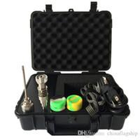 Kit Perfetto più nuovo caso portatile e digitale unghie con Ti / QTZ riscaldatore chiodo ibrido Fit bobine digitale Olio Essenziale vaporizzatore DHL
