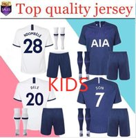 New 19 20 NDOMBELE home white away Spurs Soccer Merse KANE set uniforms kit per bambini
