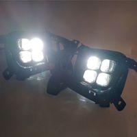 Автомобиль DRL светодиодные дневные ходовые огни передний бампер светодиодные противотуманные фары лампы для KIA Sorento 2018 2019 туман замена день