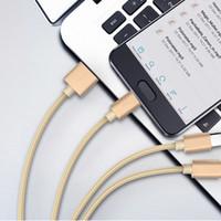 Neue 3 in 1 USB-Kabel für Xiaomi Multi 2.4a Fast Lade-Ladegerät Geflochtene USB-Typ C Typ-C-Micro-USB-Kabel für Android-Smart-Handy