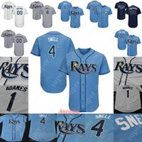 Tampa Bay Maillot Blake Snell Rays Willy Adames Austin Meadows Tommy Pham Kevin Kiermaier Ji-Man Choi Tyler Glasnow Mike Zunino Wade Boggs