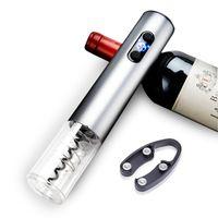 Ouvre-bouteille de vin automatique Ensemble d'ouverture de vin électrique multicolore Alliage d'aluminium Torkscrew Cuisine Outils de cuisine pour cadeau HHA812