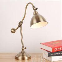 Защита глаз светодиодных настольных лампы Творческих моды спальня прикроватных обучения лампа для чтения американского украшения офиса стола складного стола лампа LR012
